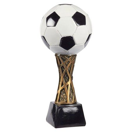 Juvale Soccer Trophy - Sports Award Trophy - Trophy Award Recognition for Soccer Players, Coaches for Kids Sports Tournaments, Competitions – Soccer Ball, 12.5 x 5.5 x 5.5 Inches