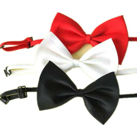 SKL Set of 1 Adjustable Dog Bow Tie Pet Collar Perfect for Wedding Tie Party Accessories Bow Jeweled Pet Collar