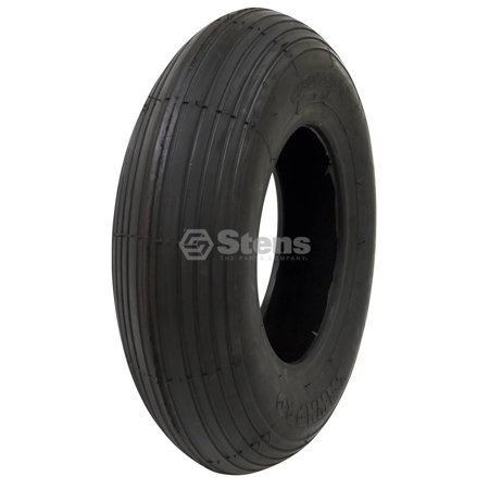 Kenda Tire 4.80x4.00-8 Rib Tread 2 Ply Tube Lawnmower Golf Go Cart ATV Off Road, 5134511 (2 Ply Rib Tire)