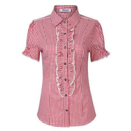 Women's Shirt for Lederhose, Traditional Bavarian Shirt, Oktoberfest Outfit - Oktoberfest Shirts For Women