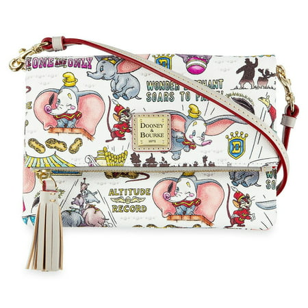 Disney Parks Dumbo by Dooney & Bourke Foldover Crossbody Bag New with Tags