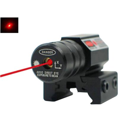 - Fashionyard Adjustable Lasers Red Dot Laser Sight Pistol 11mm 20mm Picatinny Rail For Hunting 50-100 Meters Range 635-655nm With Button Battery