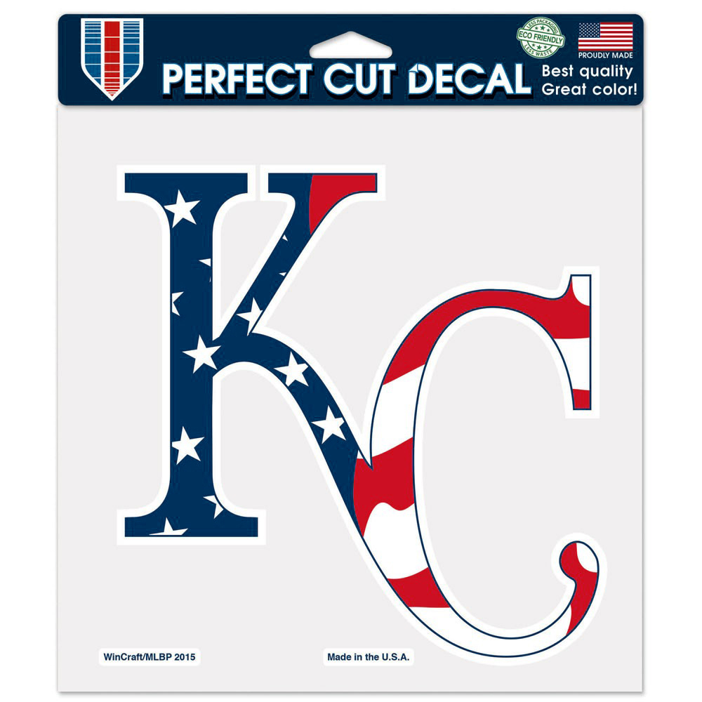 """Kansas City Royals WinCraft Patriotic 8"""" x 8"""" Color Decal - No Size"""
