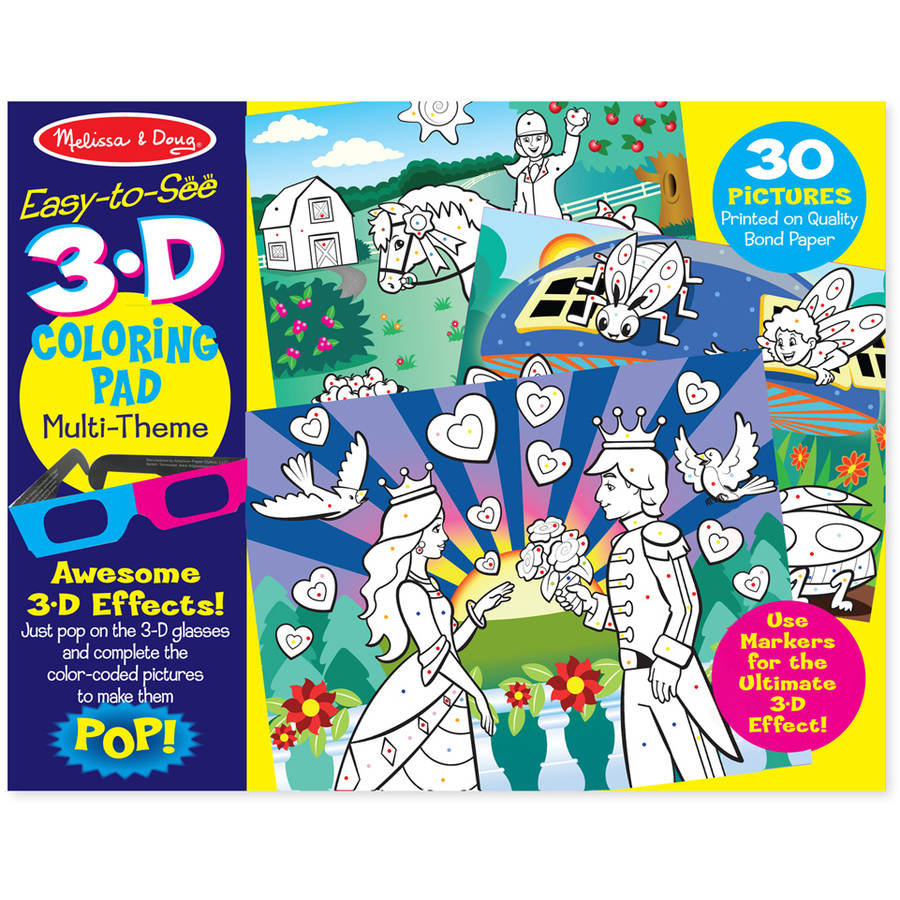 Melissa & Doug 3D Coloring Book, Girl