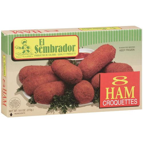 L & J General International El Sembrador  Ham Croquettes, 8 ea