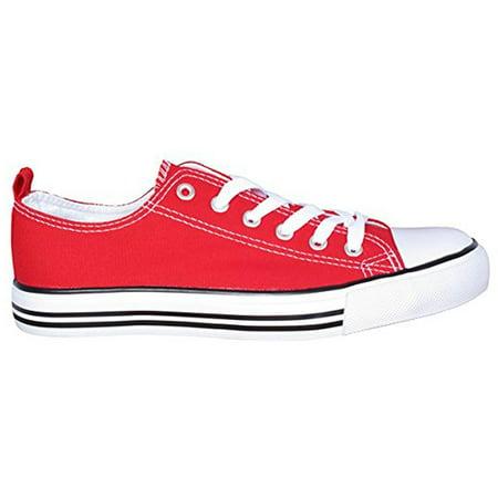 Women's Low Top Fashion Sneakers Toe Classic Skate Sneaker Shoe ()