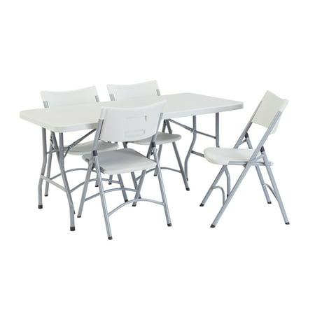 "NPS® 30"" x 60"" Rectangular Folding Table, Speckled Grey, 1,000 lb capacity"