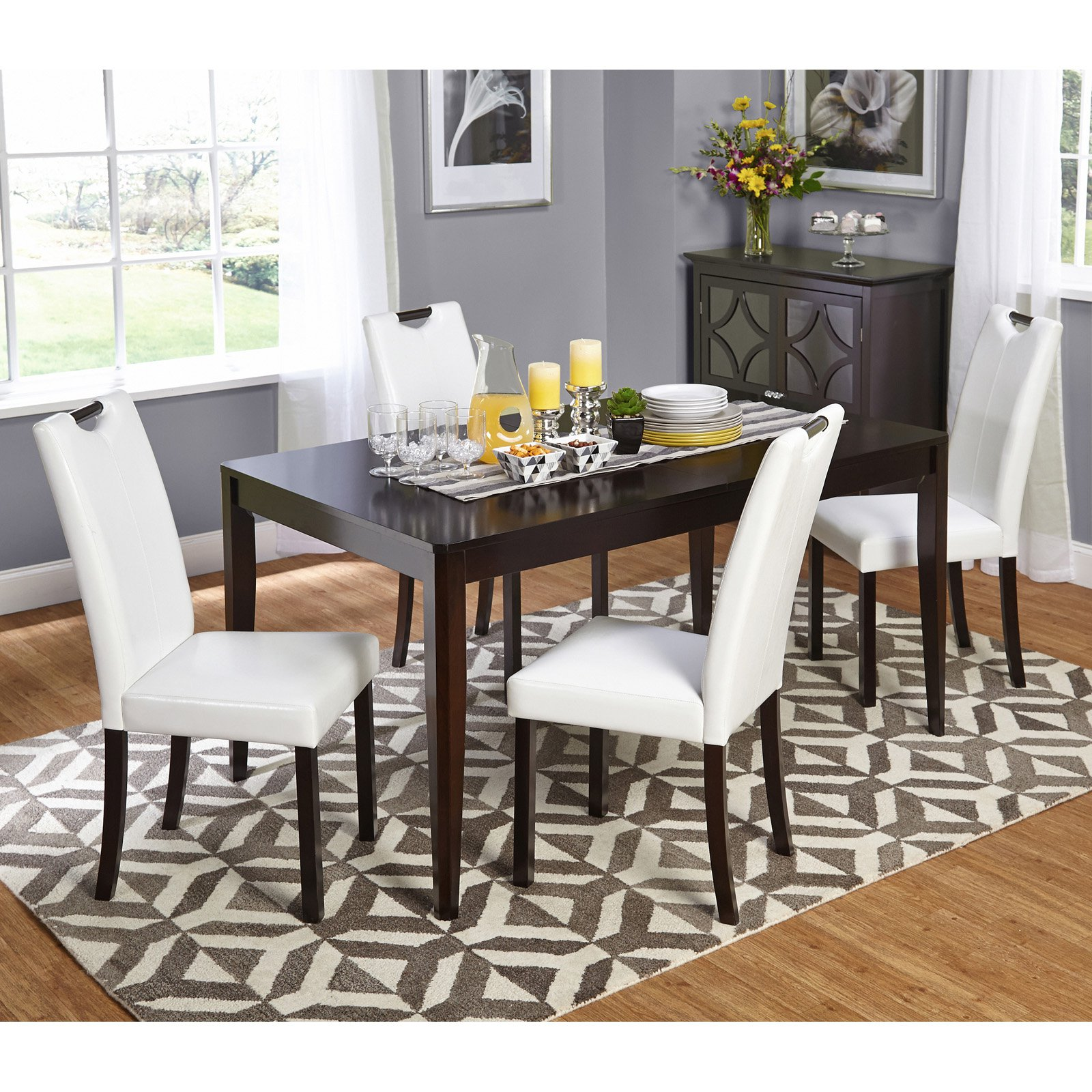 Target Marketing Systems Tilo 5 Piece Dining Table Set