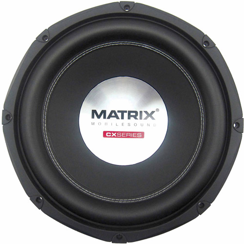 "Matrix Mobilesound 10"" Dual Voice Coil Double Stacked Magnet Subwoofer, 1200W"