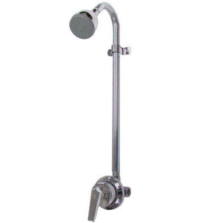Speakman Sentinel Mark II Exposed Outdoor Industrial Shower, Polished Chrome