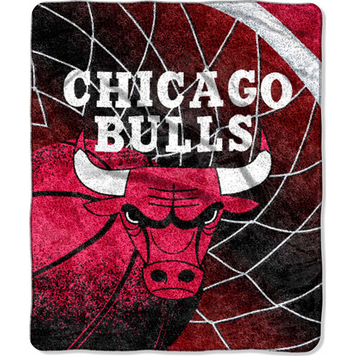 "Nba 50"" X 60"" Sherpa Reflect Throw-bulls"