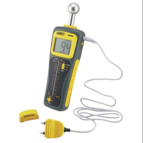 General Tools 23Nu19 Moisture Meter, Pin And Pinless