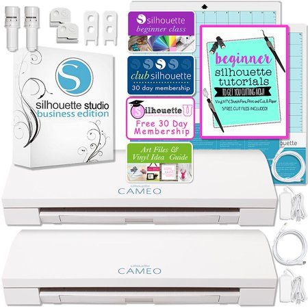 Business Machines - Silhouette Cameo 3 Bluetooth Business Bundle with TWO Cameo Machines and Silhouette Business Software
