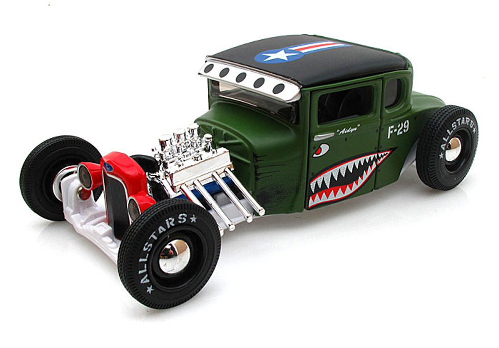 1929 Ford Model A Hot Rod Army, Green Maisto All Stars 31354 1 24 Scale Diecast Model Toy... by Maisto