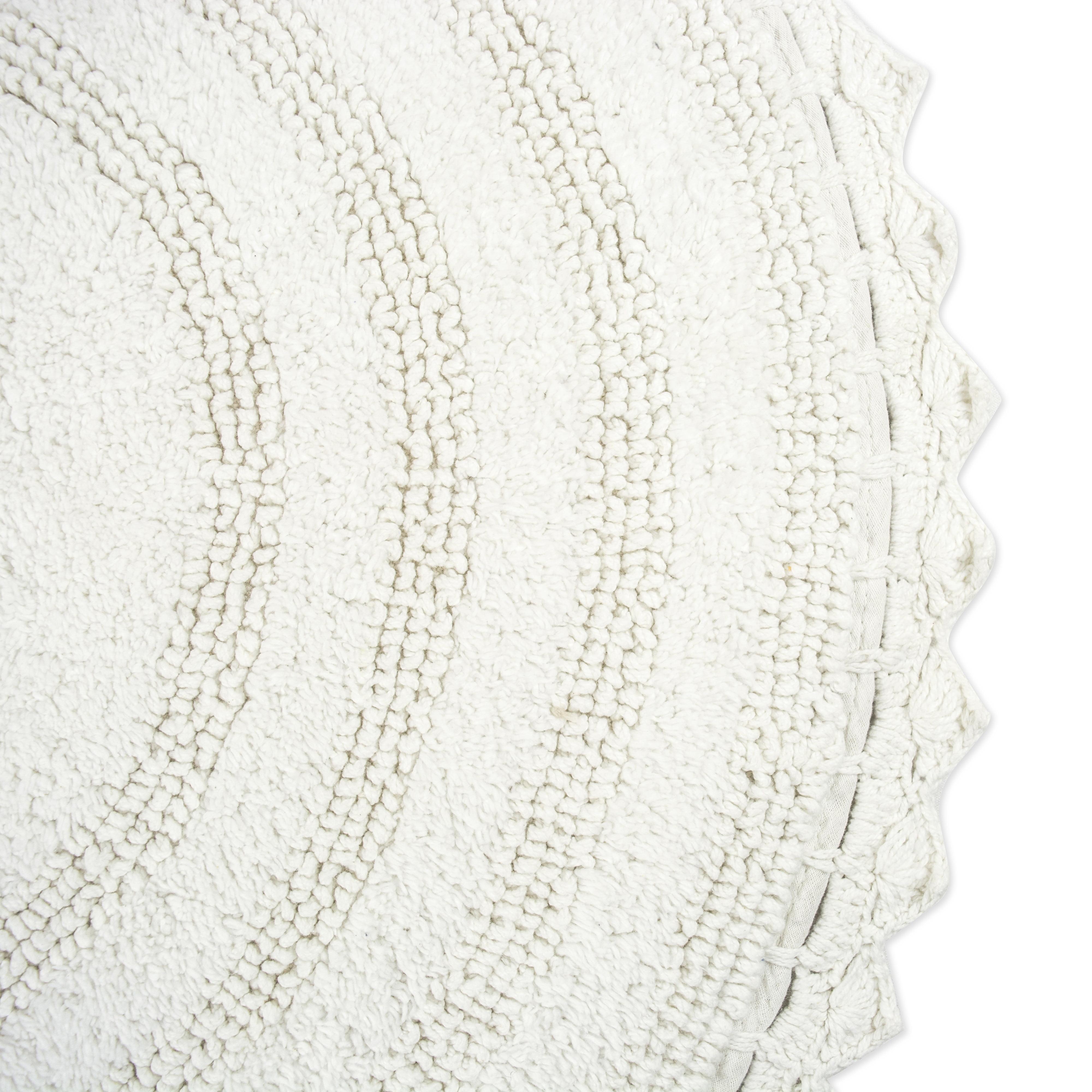 Design Imports Round Crochet Bath Mat 28 X28 100 Cotton Multiple Colors Walmart Com Walmart Com