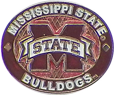 Mississippi State Bulldogs Oval Pin by