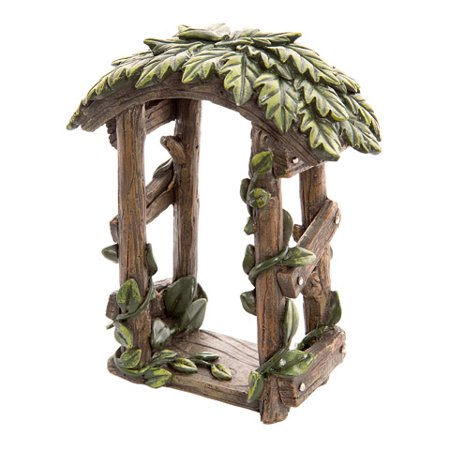 Darice Fairy Garden Accessories: Wood-Look Resin Fairy Garden Arch with Ivy ()