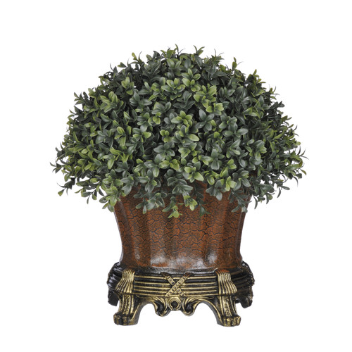 House of Silk Flowers Inc. Artificial Boxwood Half-Ball Topiary in Urn