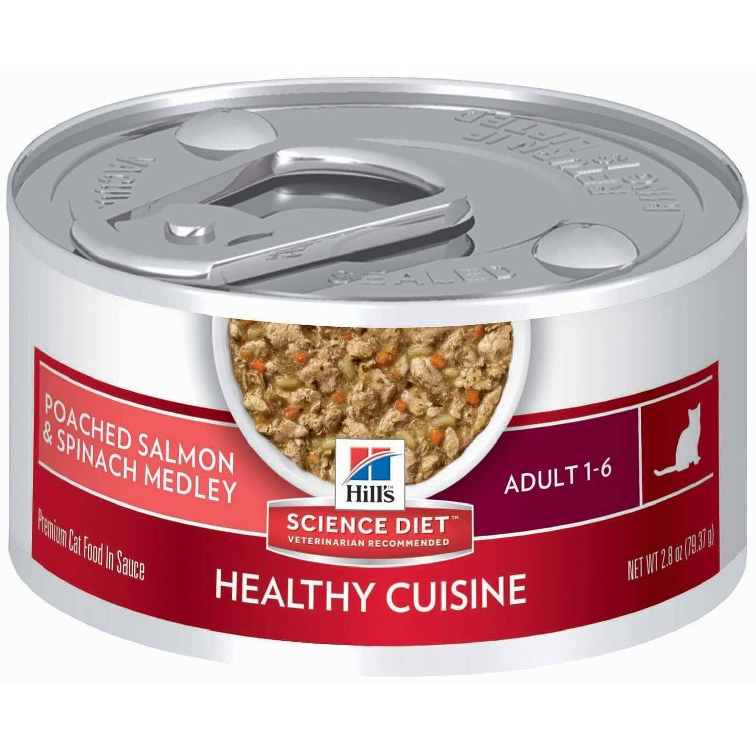 Hill's Science Diet Adult Healthy Cuisine Poached Salmon & Spinach Medley Canned Cat Food, 2.8 oz, 24-pack by Colgate-Palmolive Company