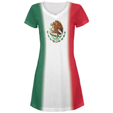 Cinco De Mayo Mexican Flag Juniors V-Neck Beach Cover-Up - Cinco De Mayo Dress Up