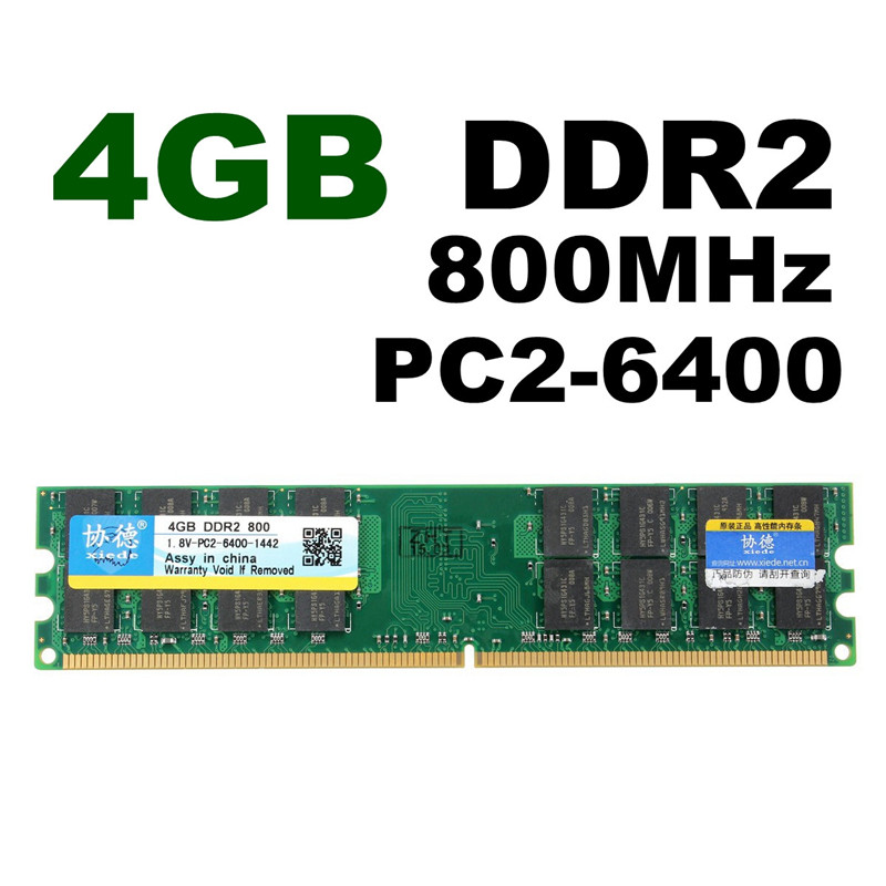 4GB DDR2 800Mhz PC2-6400 240 Pin 1.8V Desktop Memory RAM AMD DIMM