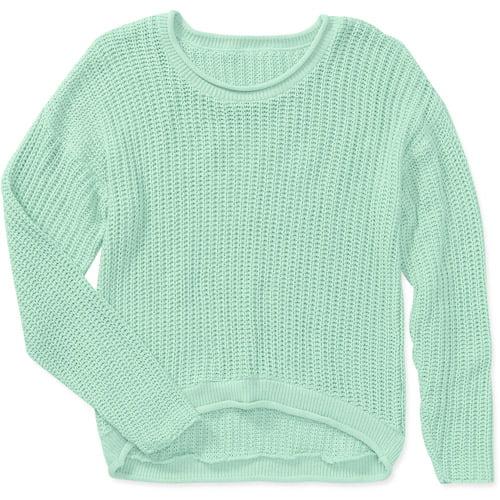 Women's Pastel Draped High Low Sweater