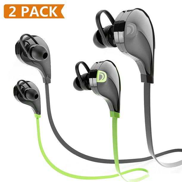 Bluetooth Headphones Dreo 2 Pack Bluetooth Earbuds Wireless Sports Noise Insulation Sweatproof W Microphone Headset Earphon Walmart Com Walmart Com
