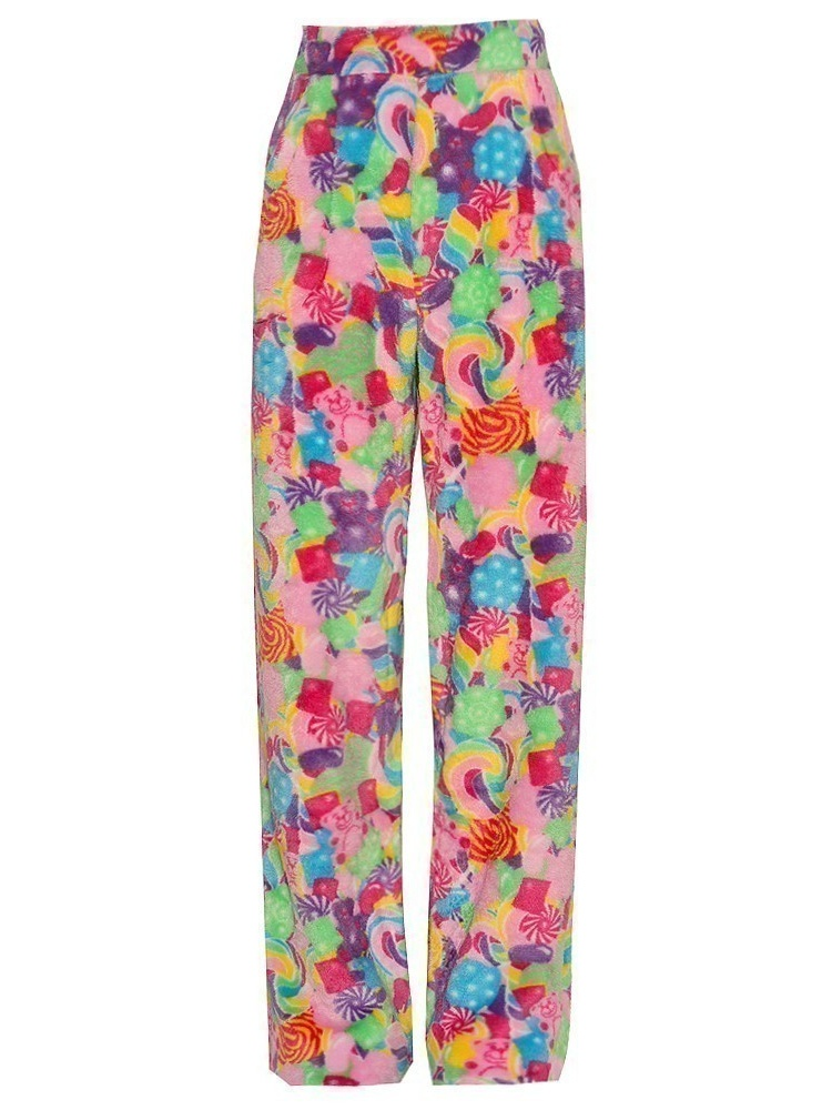 Candy Pink Girls Multi Color Candy Mixed Print Pajama Pants