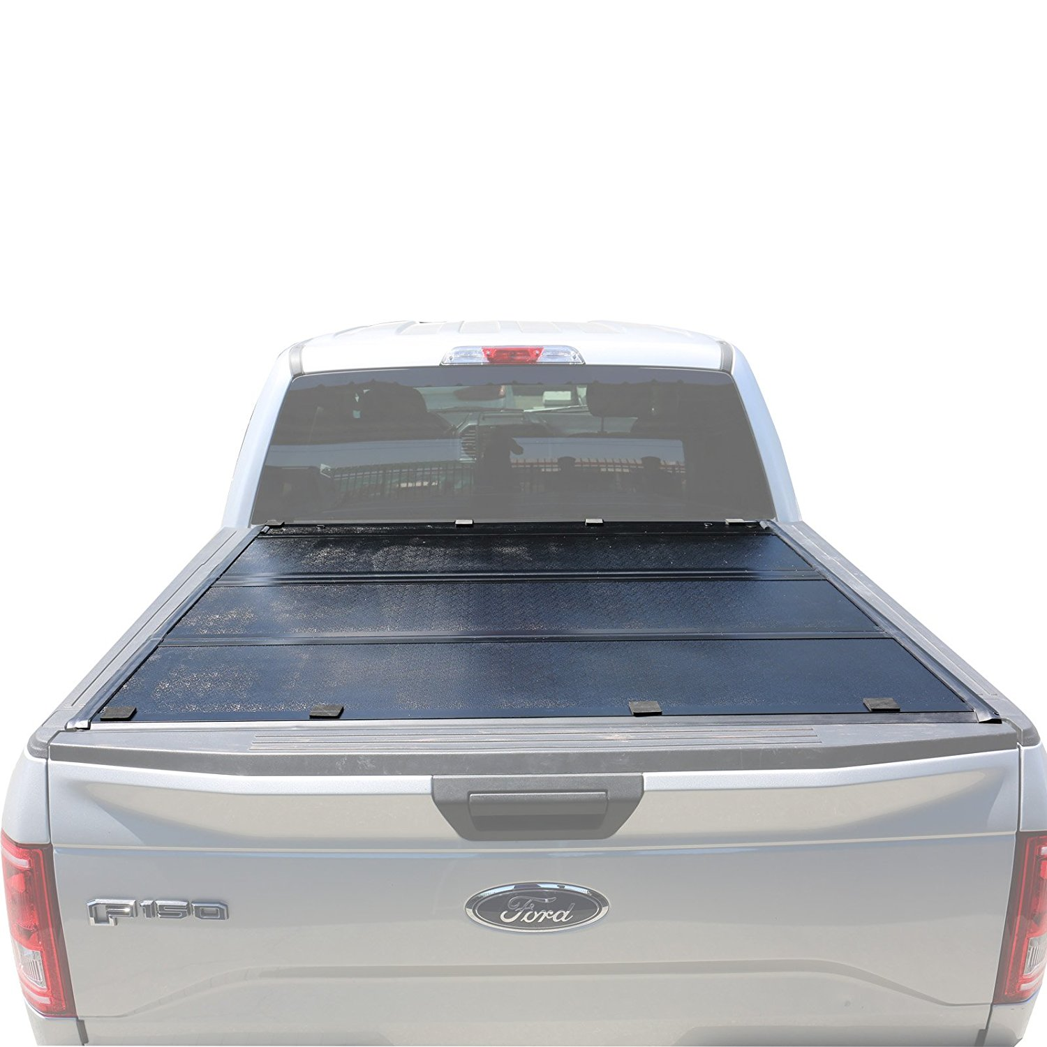 2004-2018 Ford F-150 F150 5.5ft New 2nd Generation Lock Hard Solid Tri-Fold Tonneau Cover Truck Cargo Bed Cover Locking Aluminum