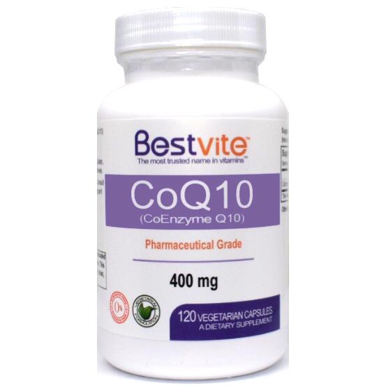 Coenzme CoQ10 400mg (120 Vegetarian Capsules) Naturally Fermented