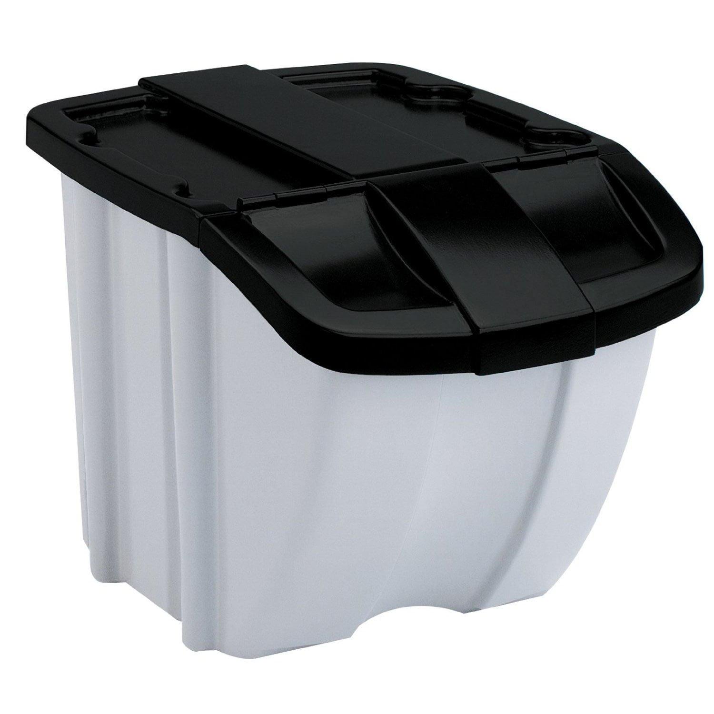 Suncast 12 Gallon 12 Quart Resin Stackable Recycling Bin BH128810 Beauteous Pac Man Recycling Bins And Re