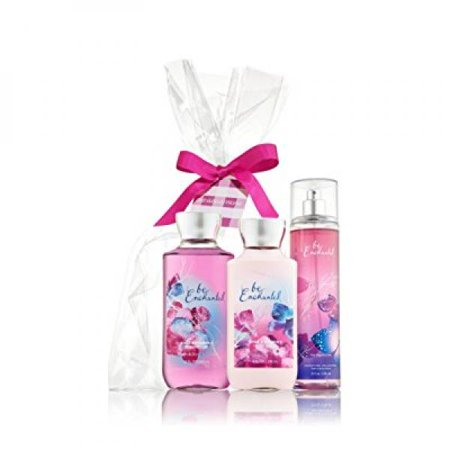 bath and body works,'be enchanted..'gift set,8fl oz,body lotion,shower gel,fragrance