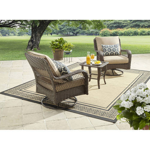 Better Homes and Gardens Colebrook 3-Piece Outdoor Chat Set, Seats 2 by
