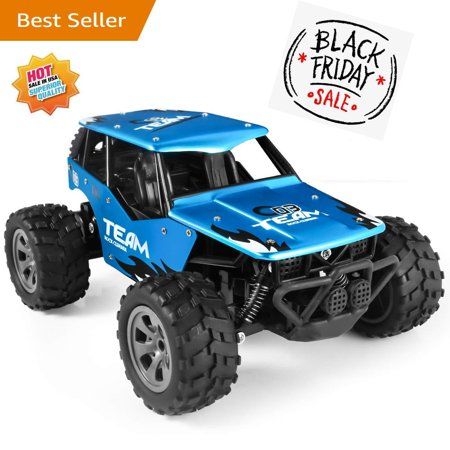 RC Car Toys, Off Road Cars Vehicle 4WD 2.4Ghz 1/16 Crawlers Off Road Vehicle Toy Remote Control Car, Best Gift for Kids and