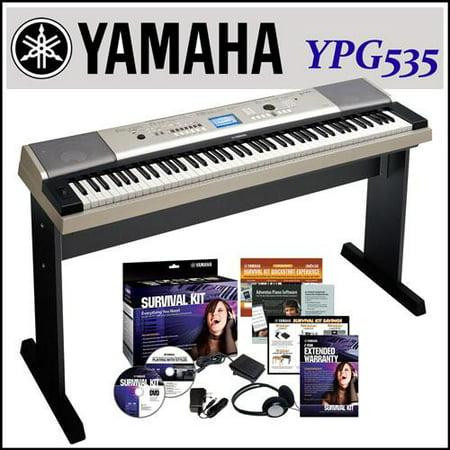 Yamaha ypg 535 88 key portable grand graded action usb for Yamaha ypg 535 88 key portable grand keyboard