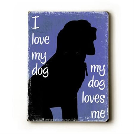 Artehouse LLC I Love My Dog by Kate Ward Thacker Graphic Art Plaque