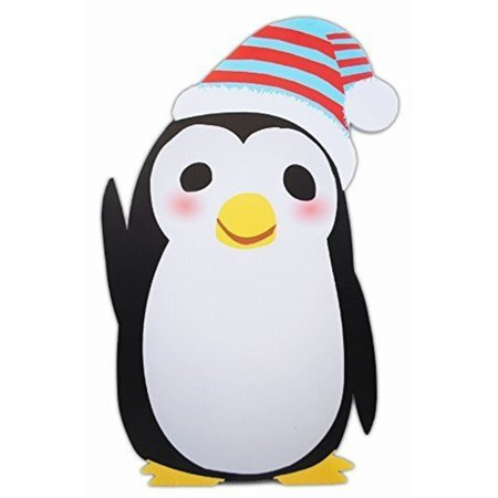 penguin standee winter wonderland cutout party decoration
