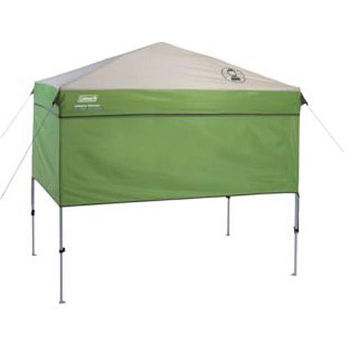 Coleman 7' x 5' Staight Leg Instant Canopy Sunwall Shelter, Green (35 sq. ft Coverage)