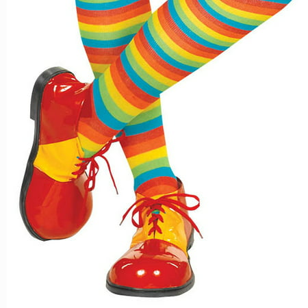 Clown Shoes Adult Costume Shoes](Harlequin Clown Costume Plus Size)