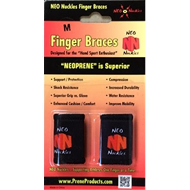 Neo Nuckles Athletic Finger Protector, Medium, Black