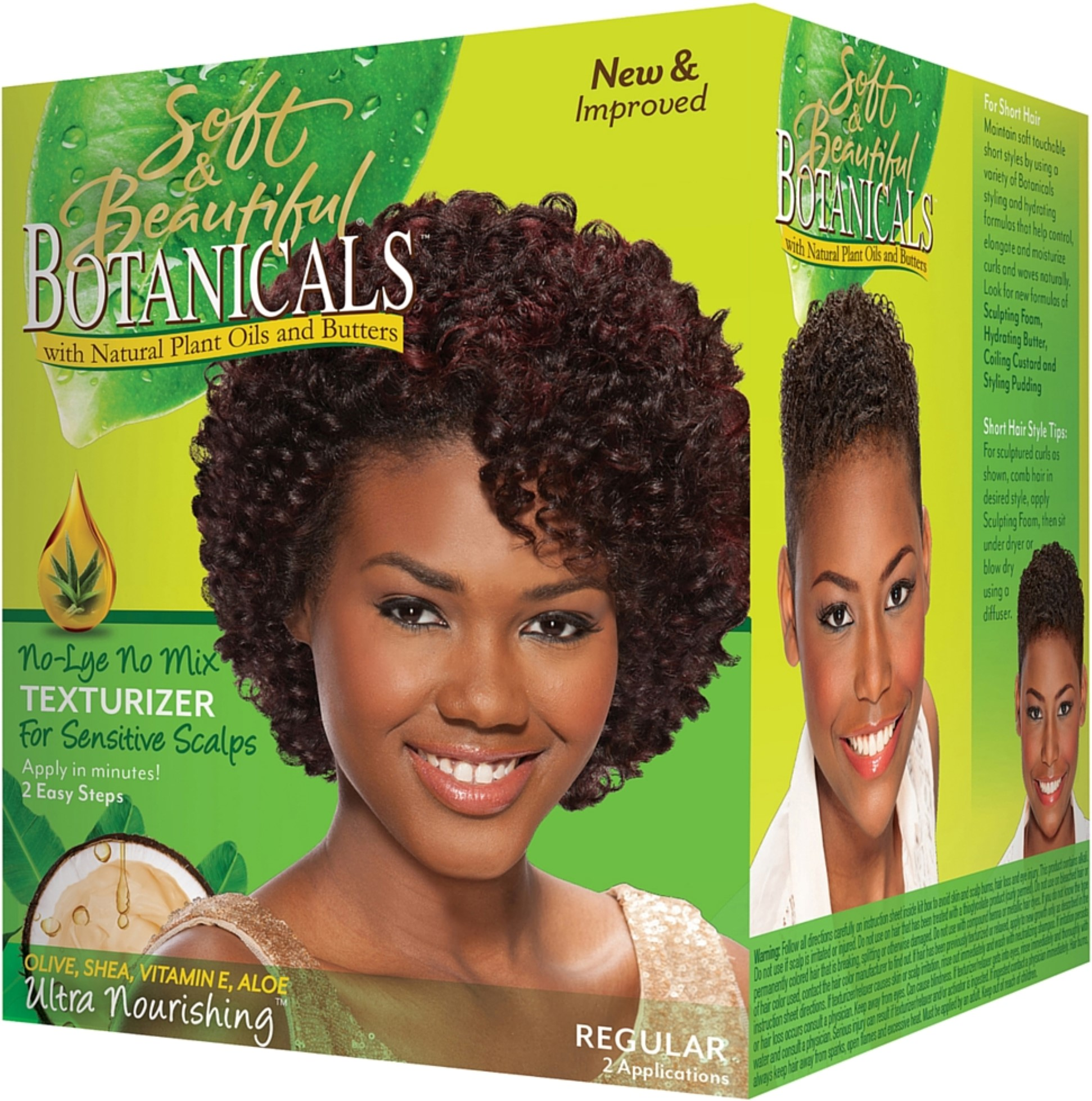 Soft & Beautiful Botanicals Regular No-Lye No Mix Texturizer for Sensitive Scalps Box