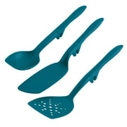 Rachael Ray 3-Piece Tools and Gadgets Lazy Spoon and Flexi Turner Set, Teal