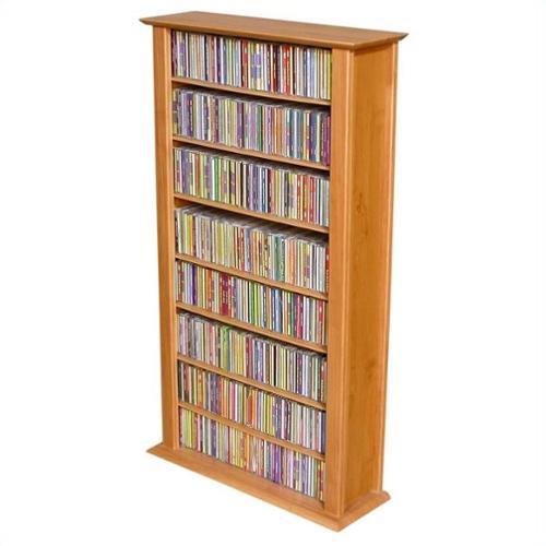 "Venture Horizon Single 50"" CD DVD Wall Media Storage Rack-Dark Walnut"