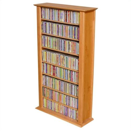 Venture Horizon Media Storage Tower-Regular Single, 28 x 9-1\/2 x 50, Walnut