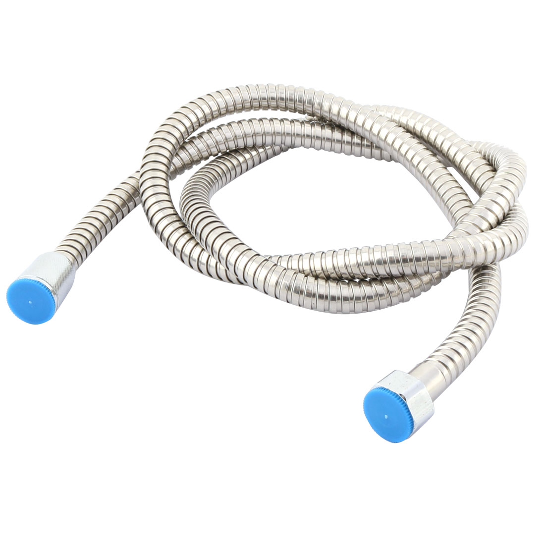 Unique Bargains Hotel Bathroom Stainless Steel Bath Tools Shower Hose Pipe Tube Silver Tone 1.5M