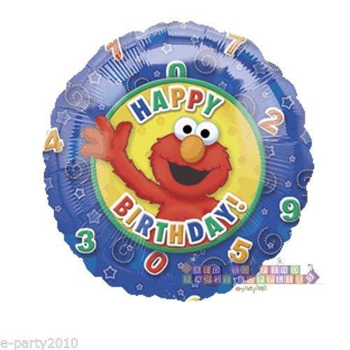 Sesame Street Elmo Happy Birthday Foil Mylar Balloon (1ct)