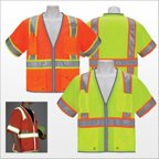 3asafety C3120-4XL Orange Surveyor Vest, Reflective Edging - 4Xl