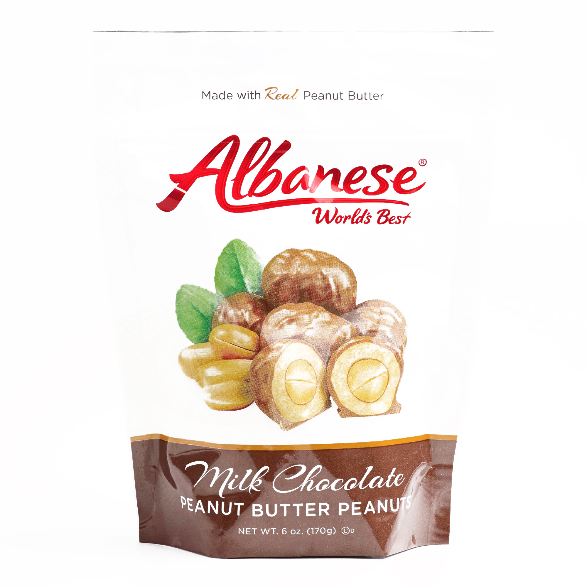 Albanese Double Dipped Peanuts  6 oz each (6 Items Per Or...