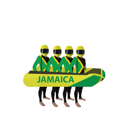 Jamaica Foam Bobsled Prop Cool Runnings Jamaican Team Group Costume Movie