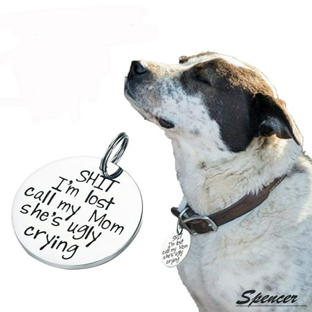 Spencer Funny Pet Tags Titanium Steel Engraved Lost Dog & Cat ID Tags, All Paws Matter Collar Tag for (Pet Paw Id Tag)